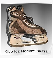 Old Ice Hockey Skate Poster