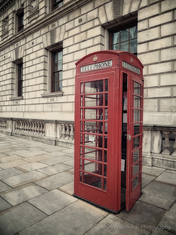 London Telephone Box by Kim Andelkovic