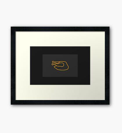 Chicken: Grilled & Served VRS2 Framed Print