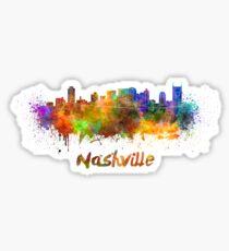 Nashville skyline in watercolor Sticker