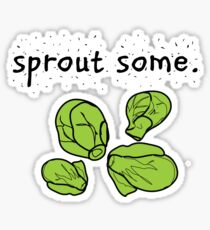 sprout some. (Brussels sprouts) Sticker