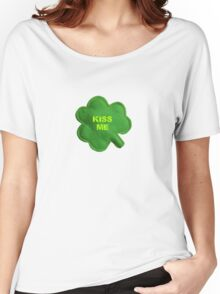 Saint Patrick's Day lucky kiss me Women's Relaxed Fit T-Shirt