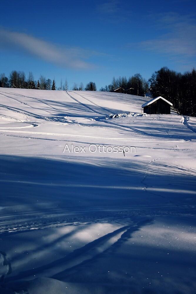 Snowy Hillside by Alex Ottosson