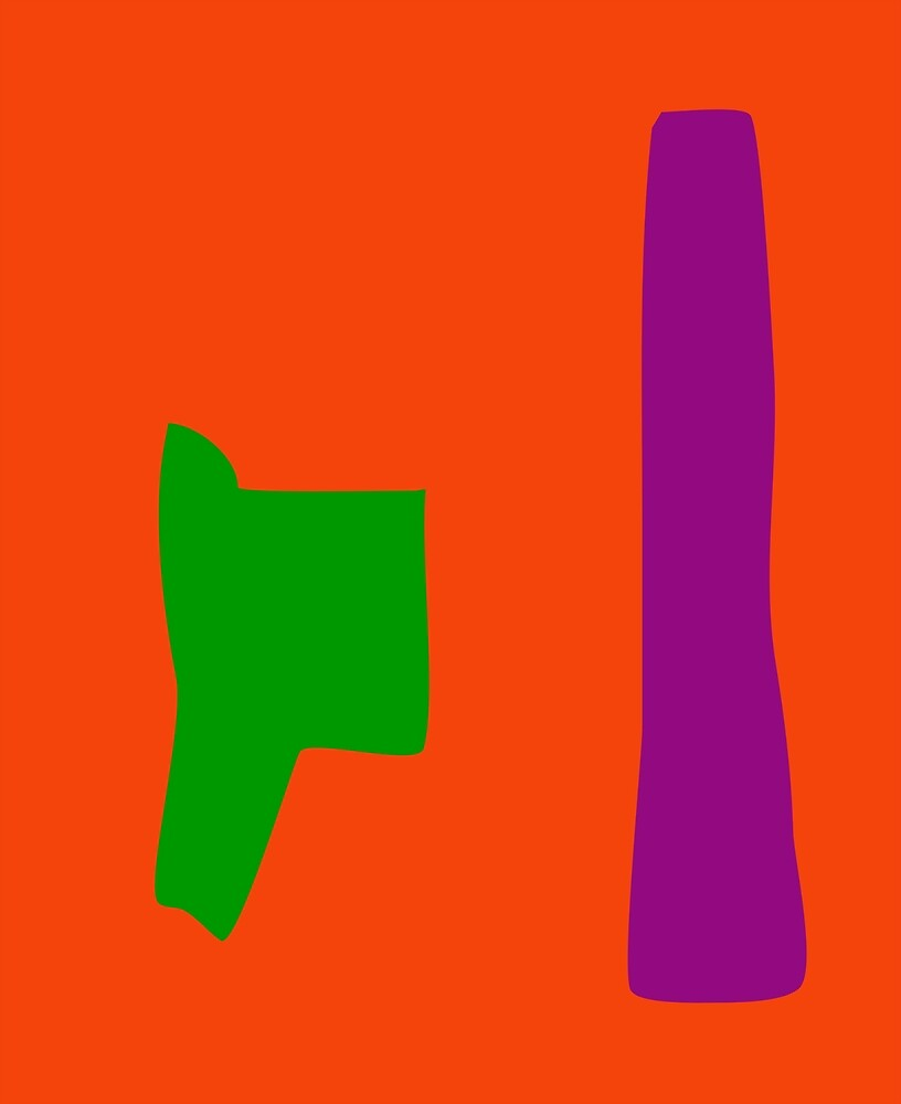 Green and Purple with Orange Background by masabo