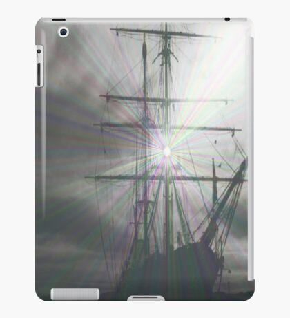 Grey ship  iPad Case/Skin