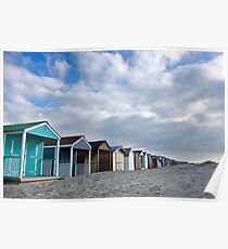 Beach Huts go on forever Poster
