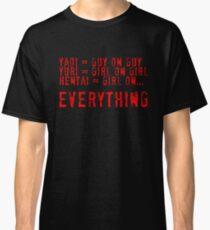 Hentai= Girl on Everything. Classic T-Shirt