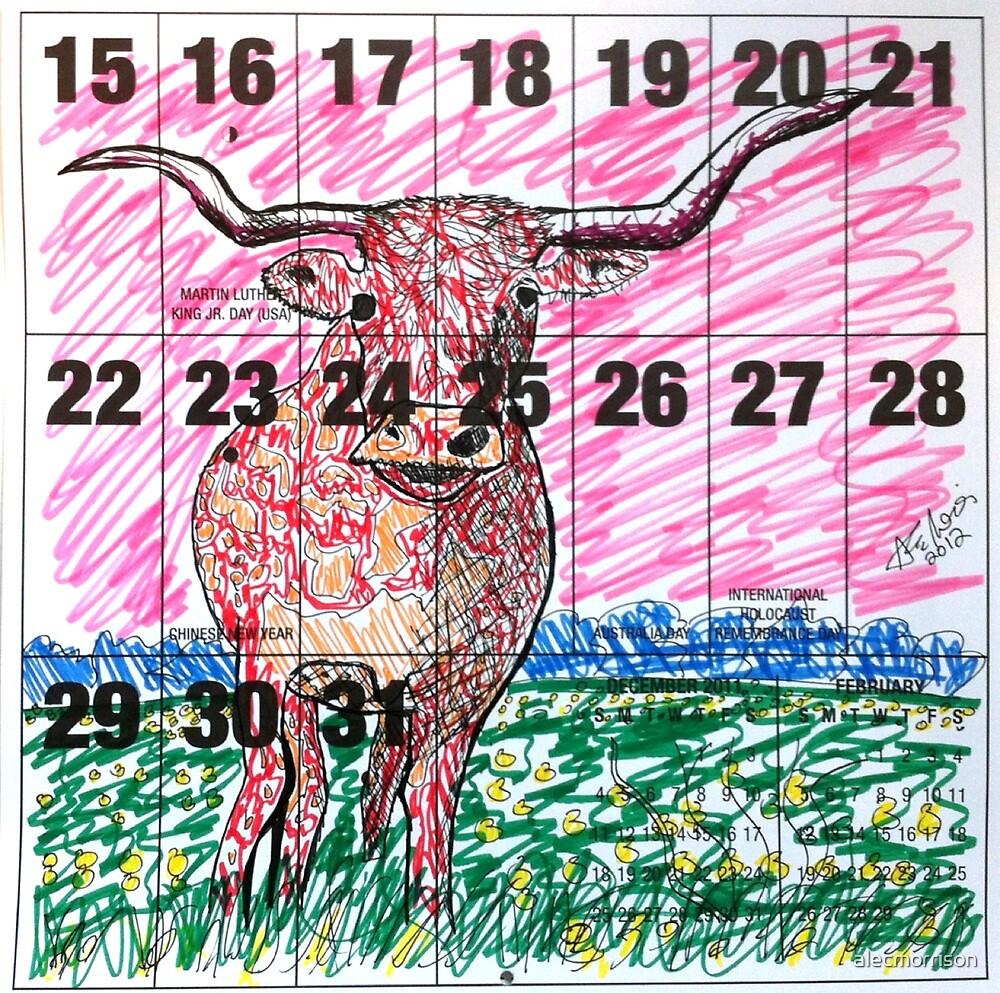 Calendar Bull 2012 by alecmorrison