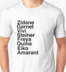 Final Fantasy IX Names T-Shirt