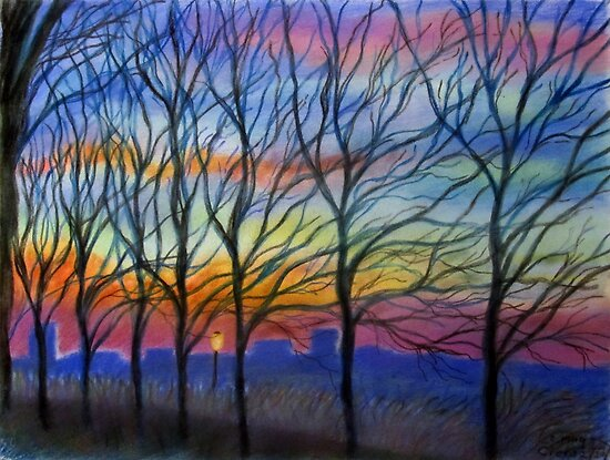 Sunset Trees in Washington Heights by InWoodLen