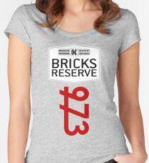 'Bricks Reserve' Women's Fitted Scoop T-Shirt