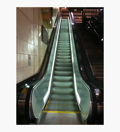 Escalating escalator Photographic Print