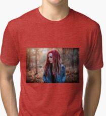 Women Portrait - Dreads Tri-blend T-Shirt