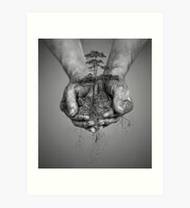 Earth In His Hands Art Print