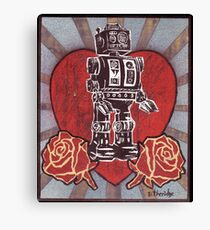 Robot love 1 Canvas Print