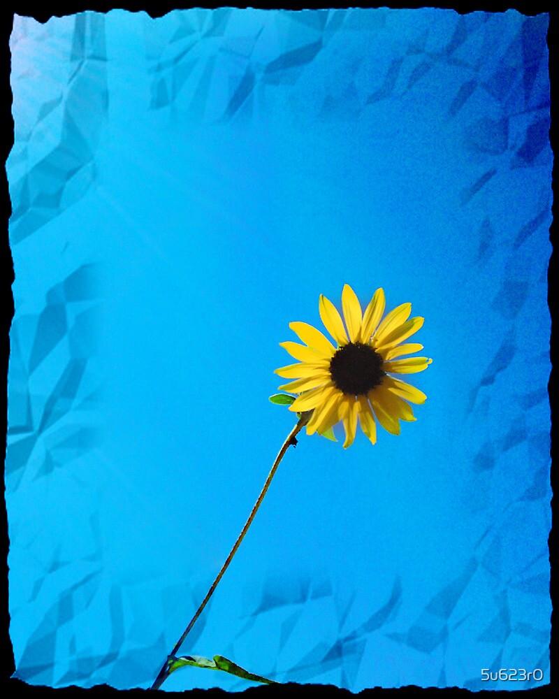 Lonley  Sunflower by 5u623r0