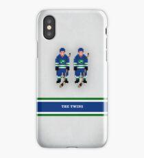 "8-Bit Hockey Stars - ""Twins"" iPhone Case/Skin"
