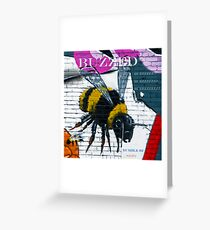Buzzing Bubble Bee Greeting Card