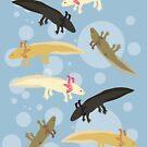 Axolotls! by Kristina S