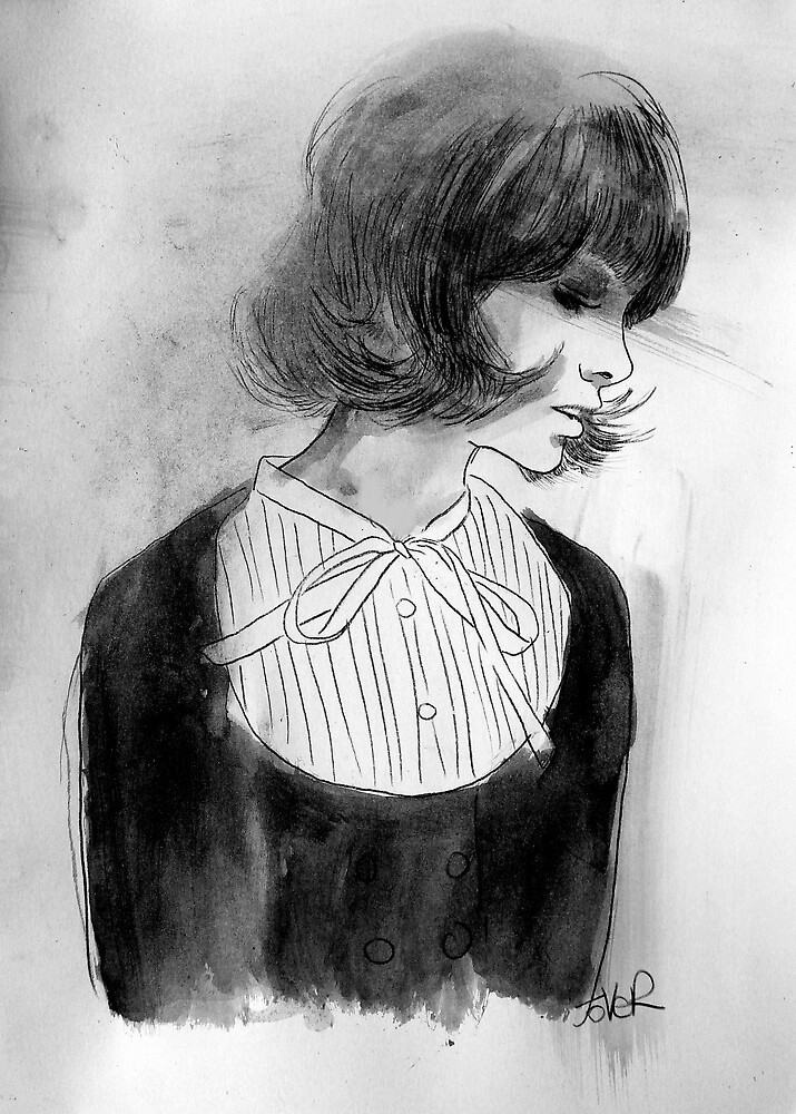 the white bow by Loui  Jover