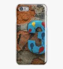 Number three on a house wall iPhone Case/Skin