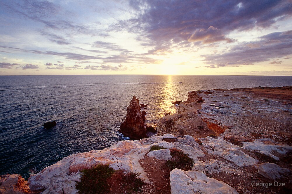 Sunset over the Cliffs of Cabo Rojo by George Oze