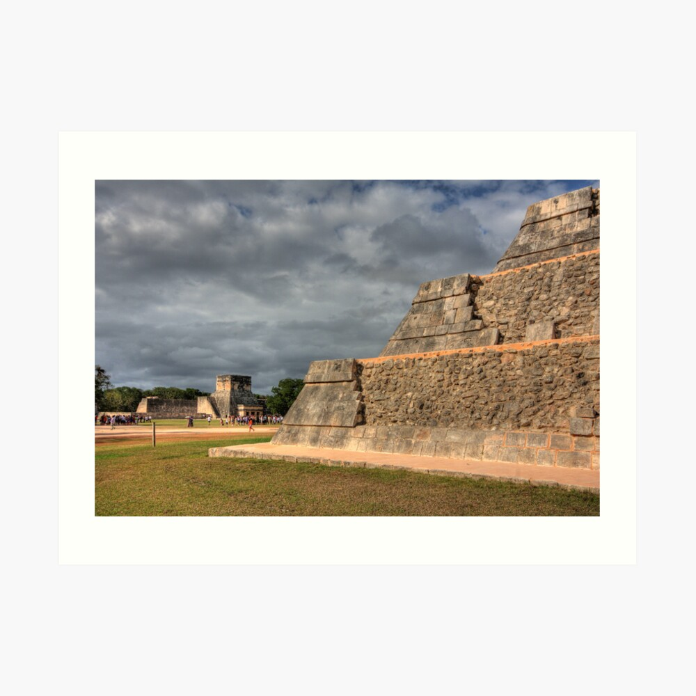 Nature Pyramid Wall Decor - Great Ball Court Art Print