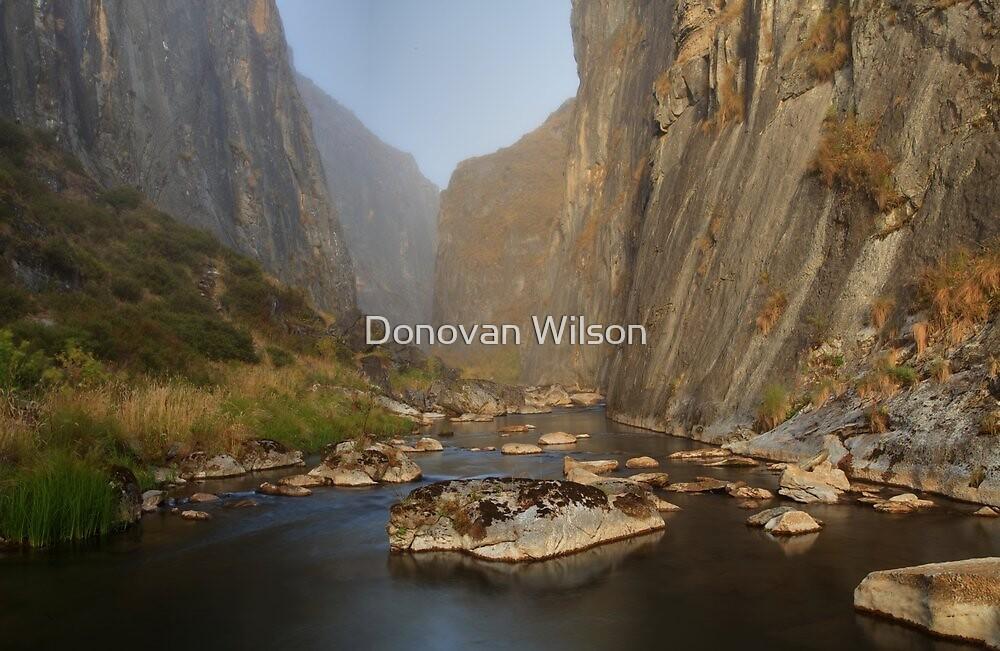 Blue Waterholes .Clarke Gorge by Donovan Wilson