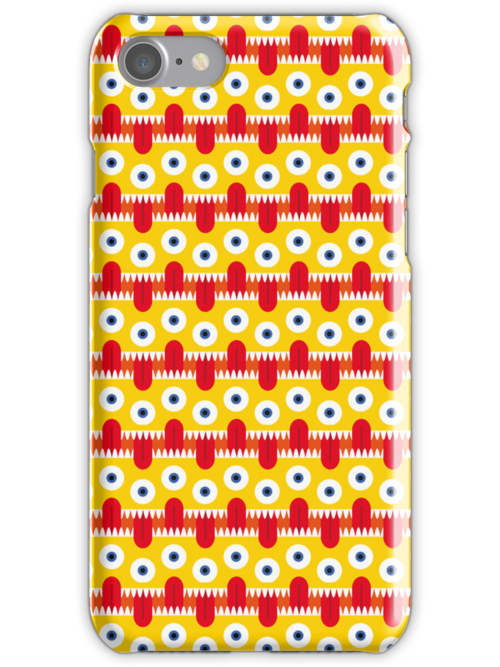 Tongue Pattern iPhone Case by Gwendal