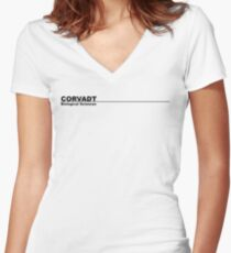 Corvadt Biological Sciences - Utopia (black) Women's Fitted V-Neck T-Shirt