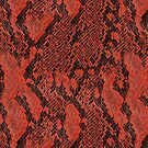 Red and Black Snake Skin by pjwuebker
