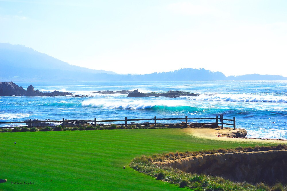 Behind The Blues On 18 At Pebble by BarbaraSnyder