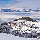 Snowy village by Ivo Velinov