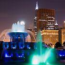 Buckingham Fountain at Night by John Gaffen