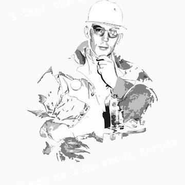 Hunter S Thompson Disco by rosebudcassidy