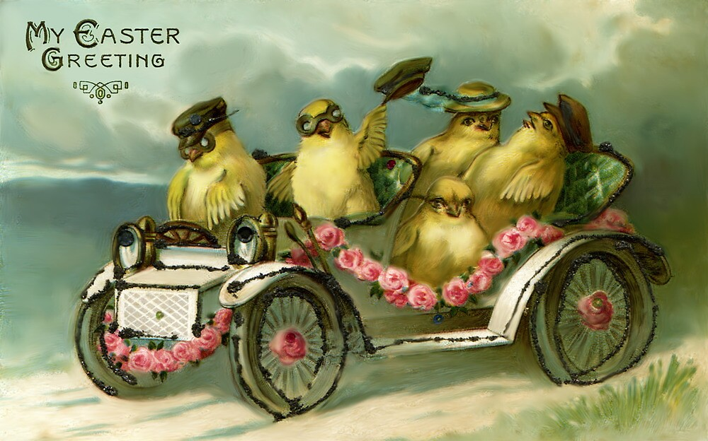 My Easter Greating - Vintage Easter card by © Kira Bodensted