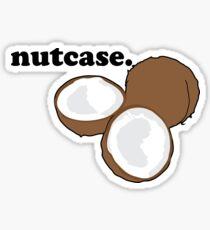nutcase. (coconut) Sticker