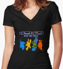 Turtles in Time - Donatello Women's Fitted V-Neck T-Shirt