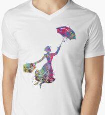 Mary Poppins T-Shirt mit V-Ausschnitt für Männer