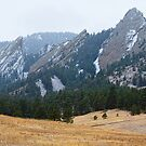 Three Flatirons Boulder Colorado Winter View by Bo Insogna