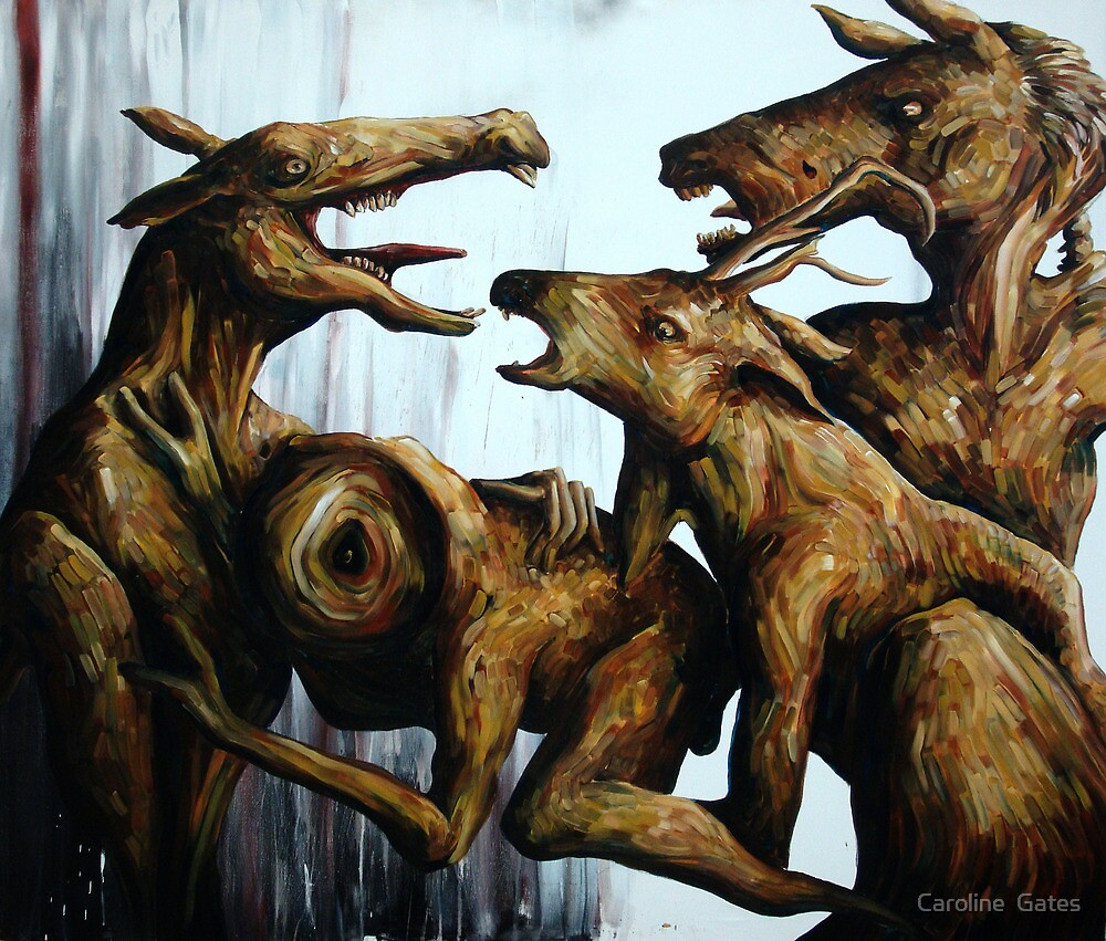 Horn Lake: Exile of the Second Coming (Large Scale Acrylic) by Caroline  Gates