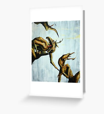 Horn Lake: My Baby Calf (Large Scale Acrylic) Greeting Card