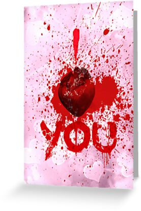 I heart you - greeting card by Scott Mitchell