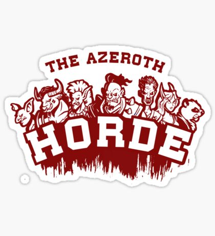 Team Horde  Sticker