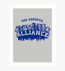 Team Alliance Art Print