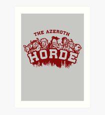 Team Horde  Art Print