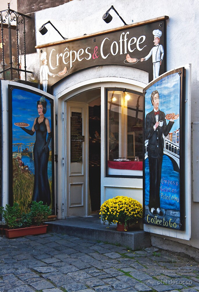 Crepes And Coffee by phil decocco