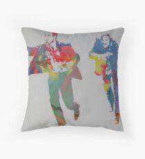 Technicolour Butch and Sundance Throw Pillow