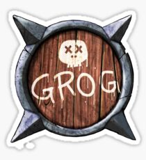 Spiked Shield with Grog and Skull Logo AAARG! Sticker