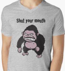 Angry Gorilla Mens V-Neck T-Shirt